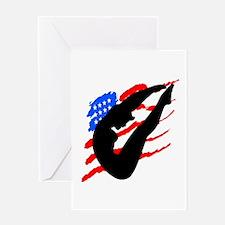 USA DIVER Greeting Card