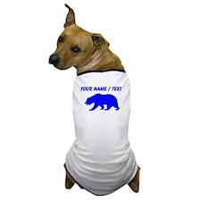 Custom Blue California Bear Dog T-Shirt