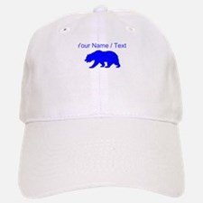 Custom Blue California Bear Baseball Baseball Cap