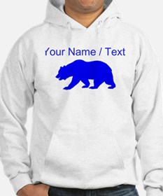 Custom Blue California Bear Jumper Hoody