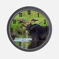 Bull in velvet Wall Clock