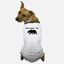Custom Black California Bear Dog T-Shirt