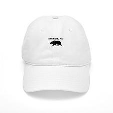 Custom Black California Bear Baseball Cap