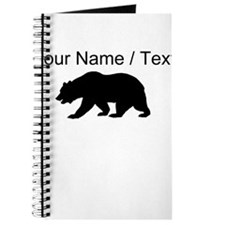 Custom Black California Bear Journal