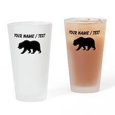 Custom Black California Bear Drinking Glass