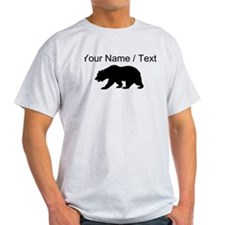 Custom Black California Bear T-Shirt