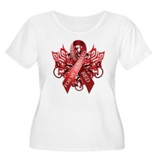 I Wear Red for my Husband Plus Size T-Shirt