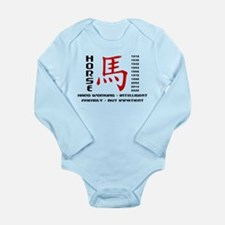 Years of The Horse Long Sleeve Infant Bodysuit