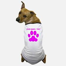 Custom Pink Big Cat Paw Print Dog T-Shirt