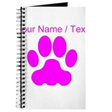 Custom Pink Big Cat Paw Print Journal
