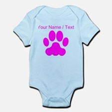 Custom Pink Big Cat Paw Print Body Suit