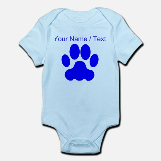 Custom Blue Big Cat Paw Print Body Suit