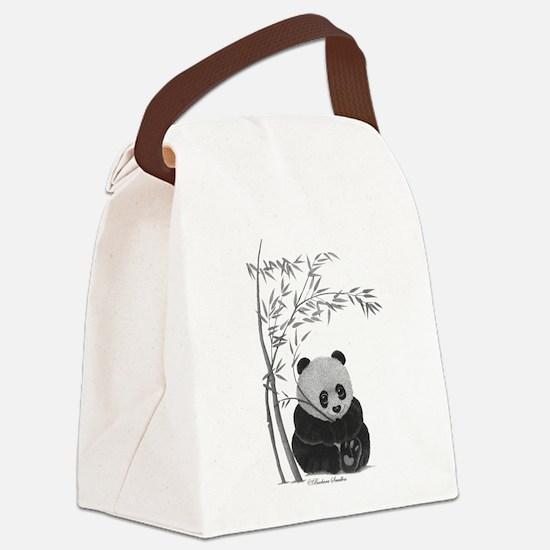 Little Panda Canvas Lunch Bag