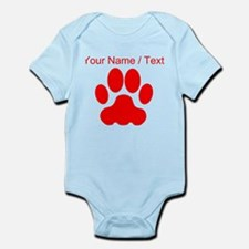 Custom Red Big Cat Paw Print Body Suit