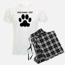 Custom Black Big Cat Paw Print pajamas