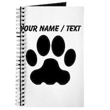 Custom Black Big Cat Paw Print Journal