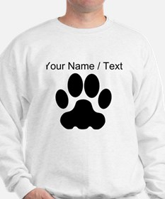 Custom Black Big Cat Paw Print Jumper