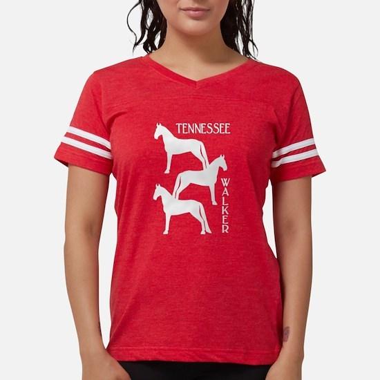 Funny Walking horse Womens Football Shirt