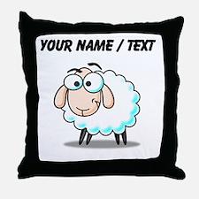 Custom Cartoon Sheep Throw Pillow