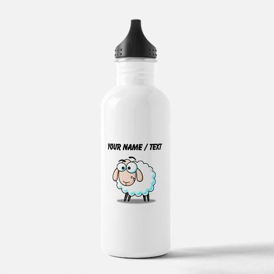 Custom Cartoon Sheep Sports Water Bottle