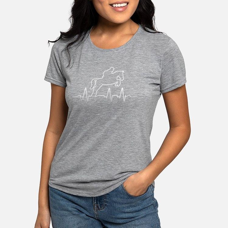 Cute Horse jumping Womens Tri-blend T-Shirt