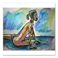 """African, nude, art! Square Car Magnet 3"""" x 3"""""""