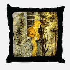 Vintage Fairy Tale Rapunzel Throw Pillow