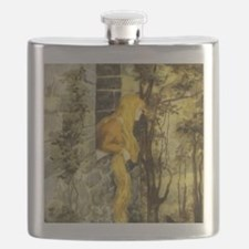 Vintage Fairy Tale Rapunzel Flask