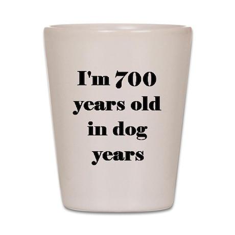 100 dog years 3-3 Shot Glass