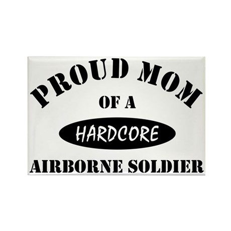 Proud Mom Airborne Soldier Rectangle Magnet