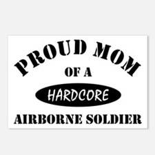Proud Mom Airborne Soldier Postcards (Package of 8