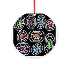 Neon Spiders Ornament (Round)