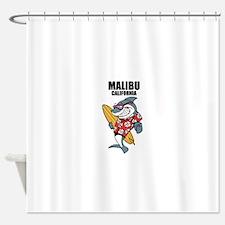 Malibu, California Shower Curtain