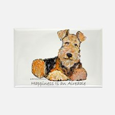 Airedale Happiness Rectangle Magnet