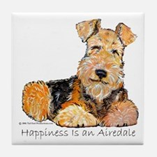 Airedale Happiness Tile Coaster