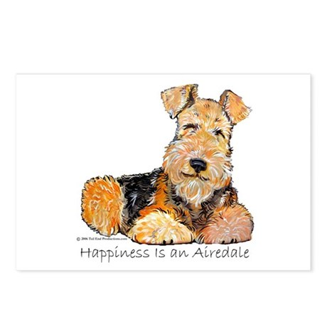 Airedale Happiness Postcards (Package of 8)