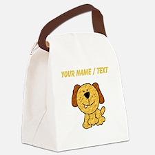 Custom Three Legged Dog Canvas Lunch Bag