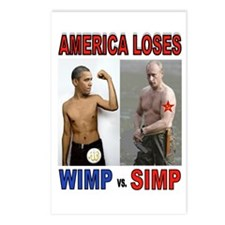 Putin Wins Postcards (package Of 8)