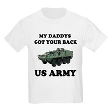 My Daddys Got Your Back US Army Kids T-Shirt