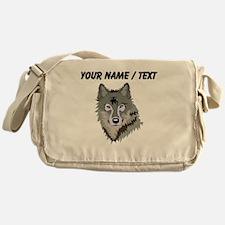 Custom Wolf Messenger Bag