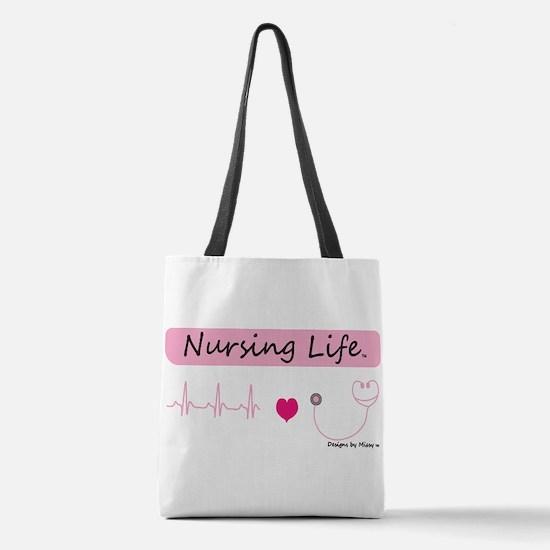 Funny Nurse Polyester Tote Bag
