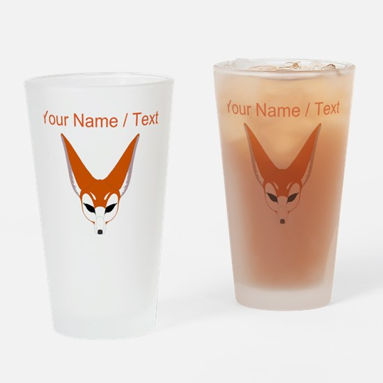 Custom Red Fox Drinking Glass