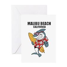 Malibu Beach, California Greeting Cards
