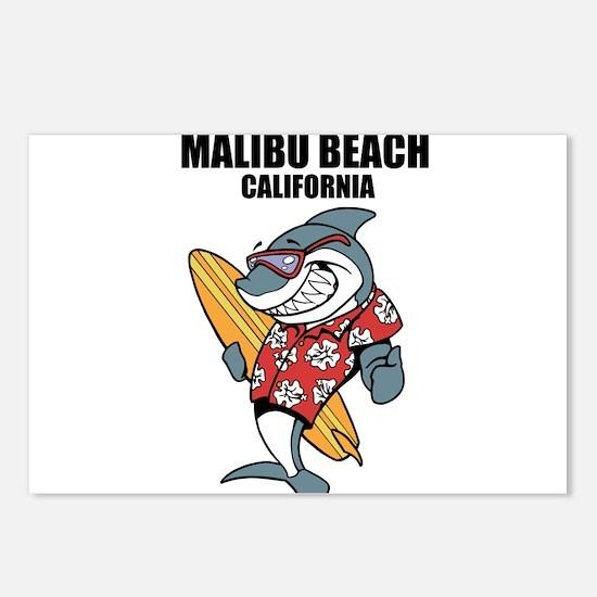 Malibu Beach, California Postcards (Package of 8)