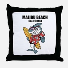Malibu Beach, California Throw Pillow