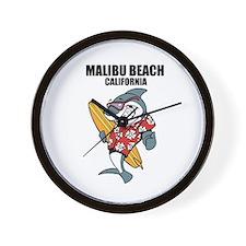 Malibu Beach, California Wall Clock