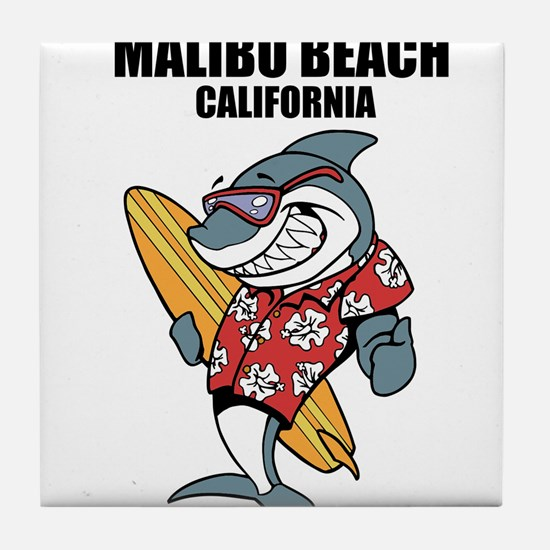 Malibu Beach, California Tile Coaster