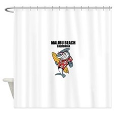 Malibu Beach, California Shower Curtain