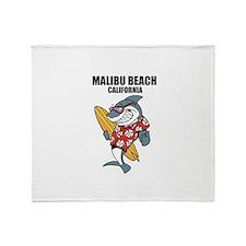 Malibu Beach, California Throw Blanket