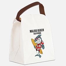Malibu Beach, California Canvas Lunch Bag